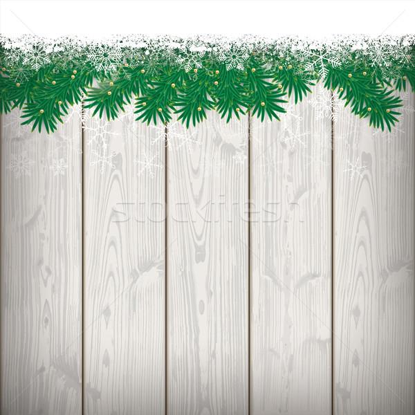雪 背景虛化 木 木 eps 商業照片 © limbi007