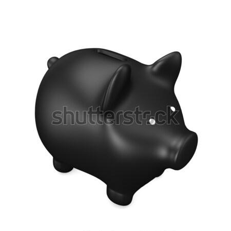 Black Piggy Bank Stock photo © limbi007