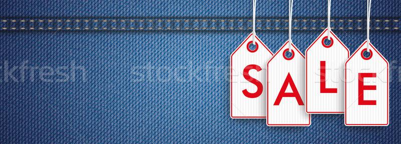 Stock photo: Jeans Header Price Stickers Sale