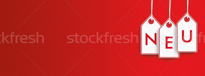 Hanging Price Stickers Neu Header Stock photo © limbi007