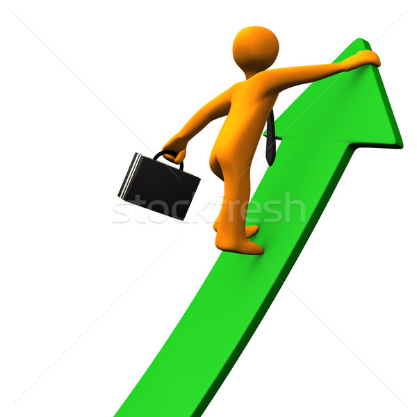 Career Success Green Arrow 2 Stock photo © limbi007