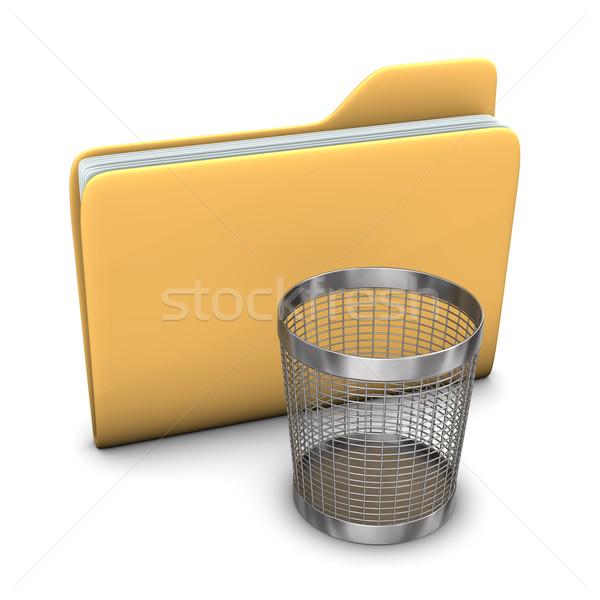 Folder Wastebasket Stock photo © limbi007
