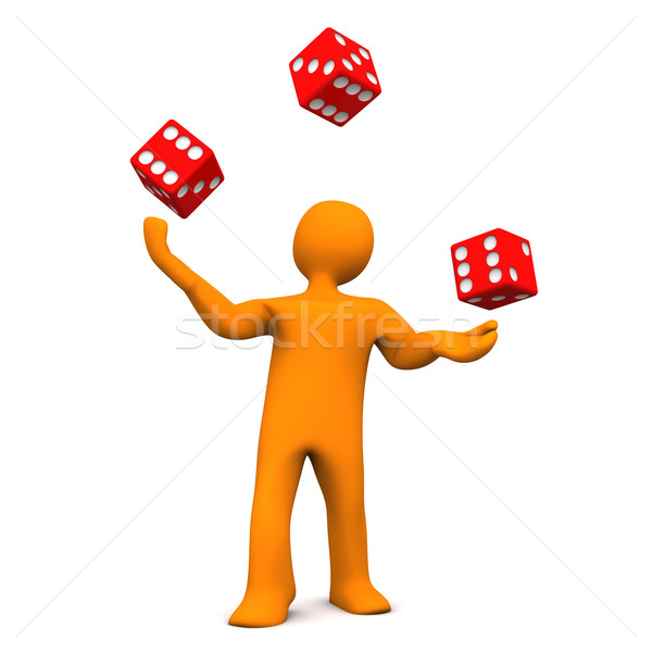 Juggling Dice Stock photo © limbi007
