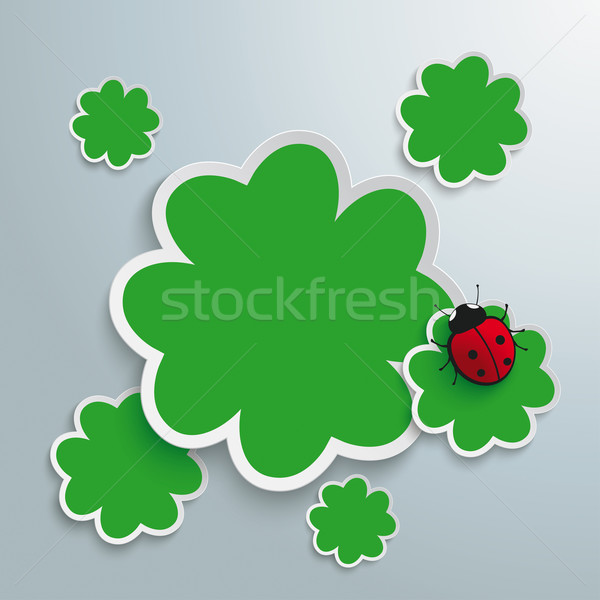 3 Green Shamrocks Stock photo © limbi007