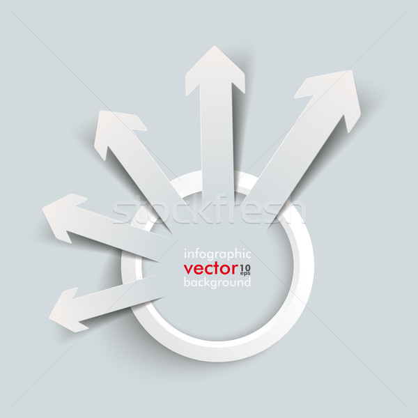 Stock photo: White Ring Paper Arrows Growth