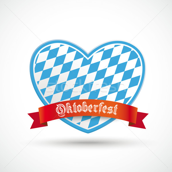 Oktoberfest Heart Red Banner Stock photo © limbi007