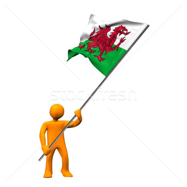 Bandera gales naranja Cartoon grande aislado Foto stock © limbi007