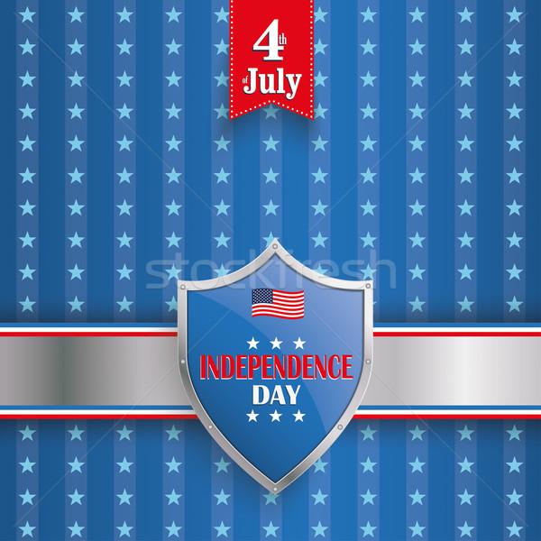4th July Protection Shield Stars Stripes Stock photo © limbi007