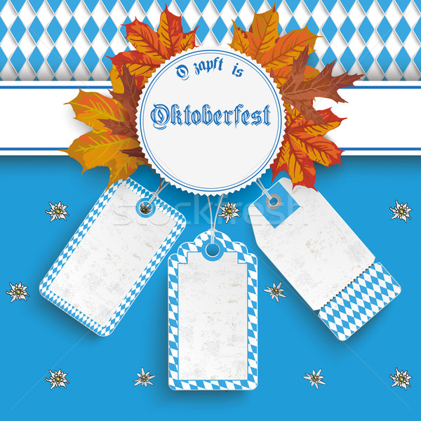 Oktoberfest Price Stickers Autumn Foliage Stock photo © limbi007
