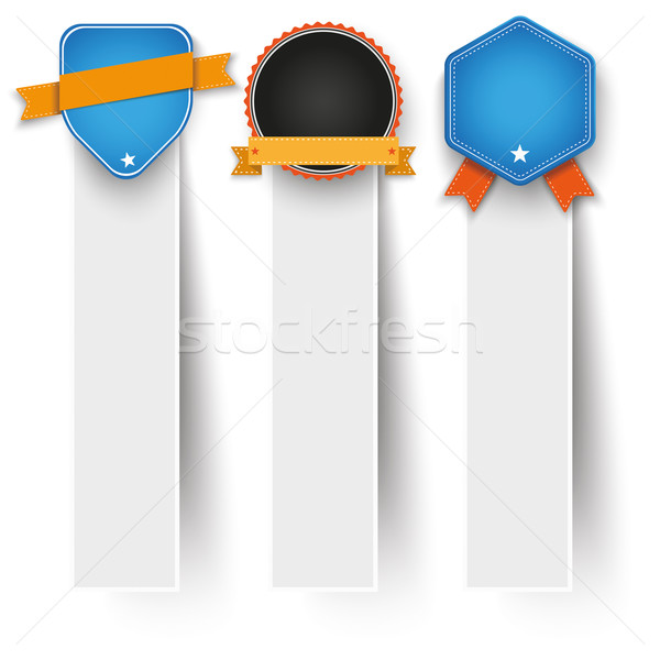 3 Oblong Paper Banners Sale Labels Stock photo © limbi007