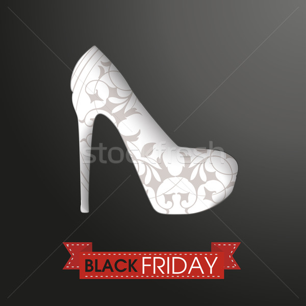 Yüksek topuklu şerit black friday metin eps 10 Stok fotoğraf © limbi007