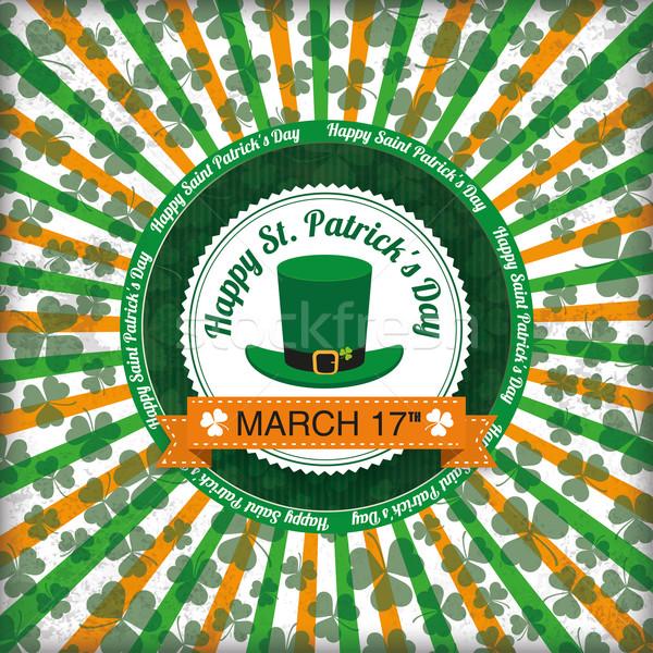 St Patricks Day Circle Hole Emblem Background Stock photo © limbi007