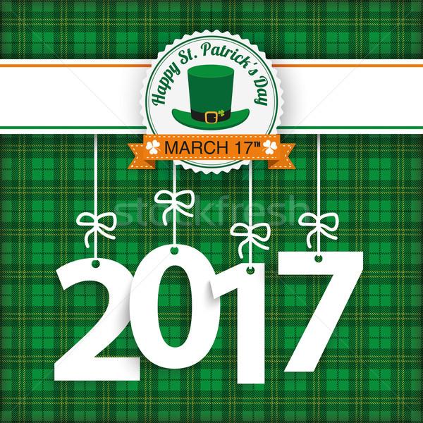St. Patricks Day Tartan 2017 Stock photo © limbi007