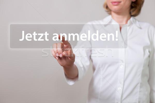 Woman Jetzt Anmelden Stock photo © limbi007