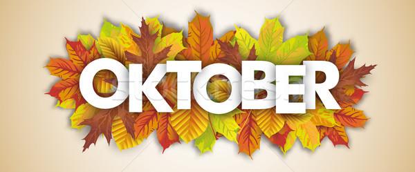 Autumn Foliage Oktober Header Stock photo © limbi007