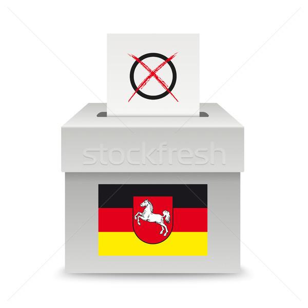 Voting Box Paper Lower Saxony Flag Stock photo © limbi007
