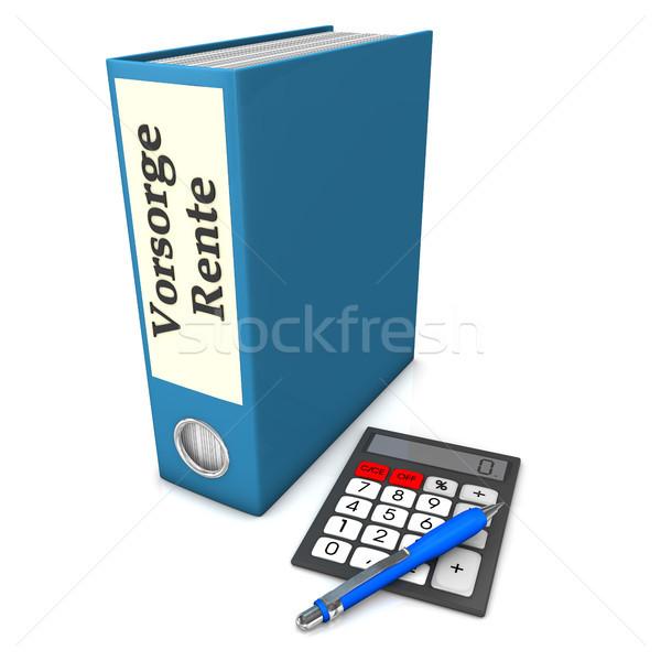 Folder Insurance Pension Stock photo © limbi007