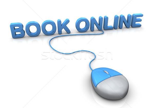Book Online Mouse Stock photo © limbi007