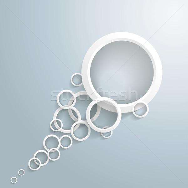 White Bubbles Tail Stock photo © limbi007
