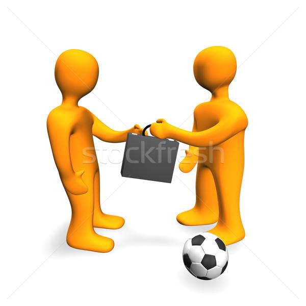 Human Bribe Deal Football 3D Stock photo © limbi007