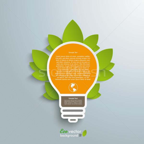 Lamp groene energie ontwerp grijs eps Stockfoto © limbi007