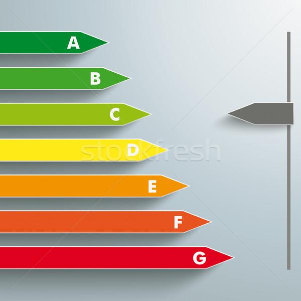 Efficienza energetica interattivo energia grigio eps 10 Foto d'archivio © limbi007