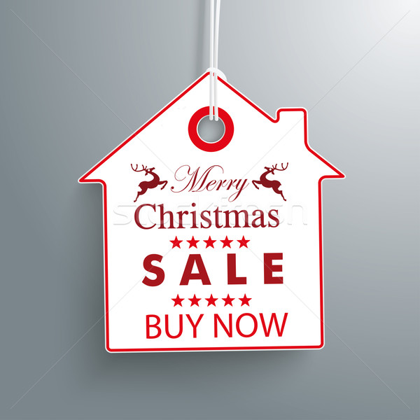 House Christmas Price Sticker Stock photo © limbi007