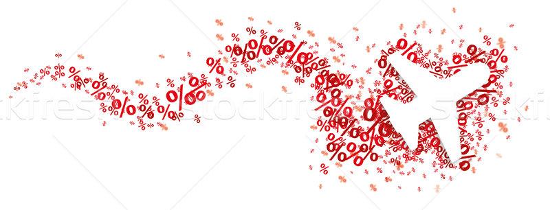 Paper Jet Red Percents Snake Header SH Stock photo © limbi007