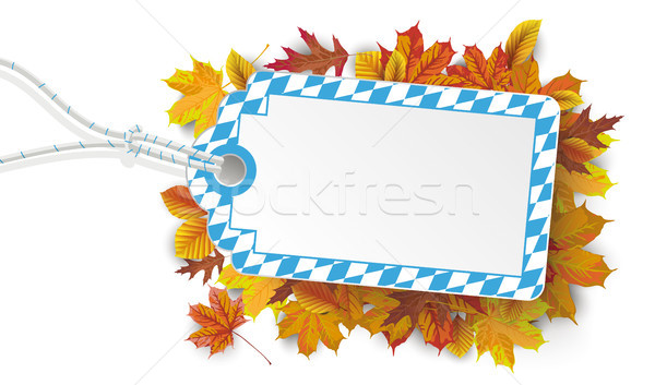 Bavarian Colors Price Sticker Autumn Foliage Stock photo © limbi007
