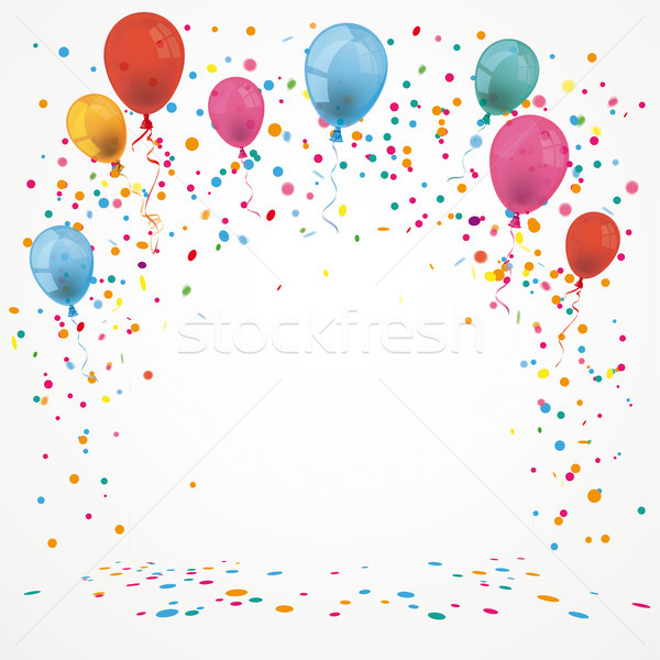 Balloons Colord Confetti Stock photo © limbi007