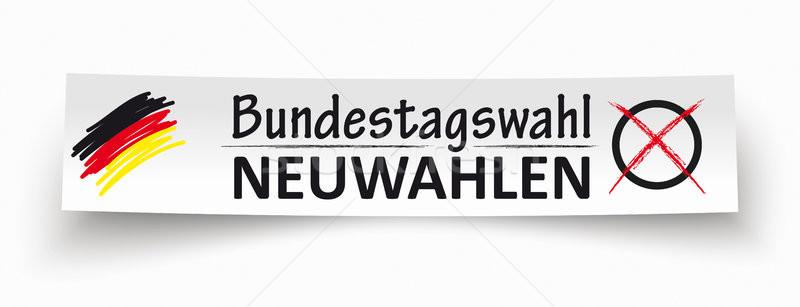 Paper Banner Bundestagswahl Neuwahlen  Stock photo © limbi007