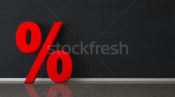 Red Percent Room Stock photo © limbi007