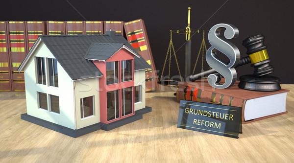 家 法 図書 小槌 規模 改革 ストックフォト © limbi007