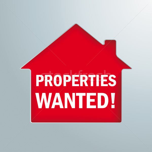 House Hole Properties Wanted Stock photo © limbi007
