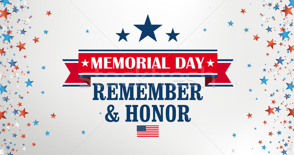 Memorial Day Remember Honor Side Stars Header Stock photo © limbi007