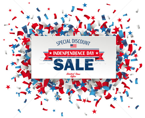 Paper Banner Independence Day Sale Confetti Stock photo © limbi007
