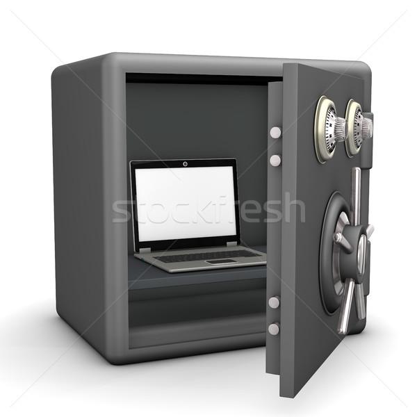 Safe Laptop Stock photo © limbi007