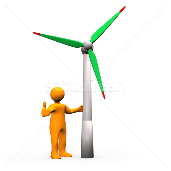 Wind Turbine OK Stock photo © limbi007