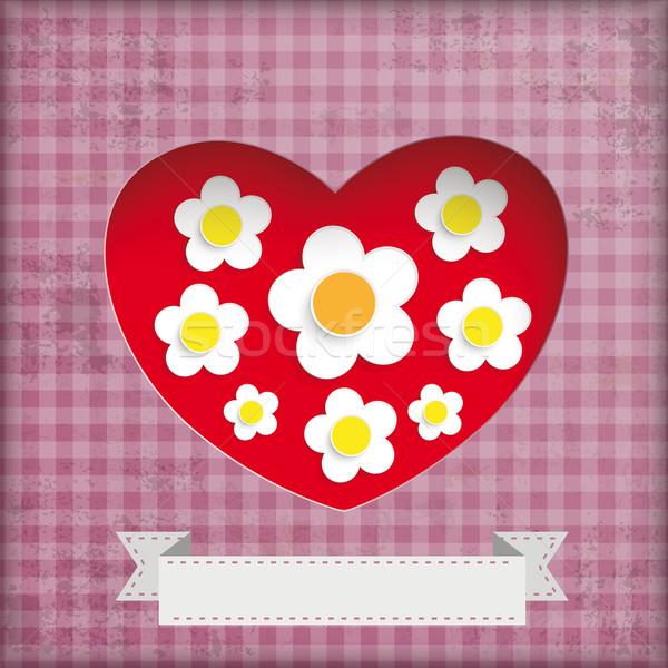 Vintage Mothersday Background White Flowers Stock photo © limbi007