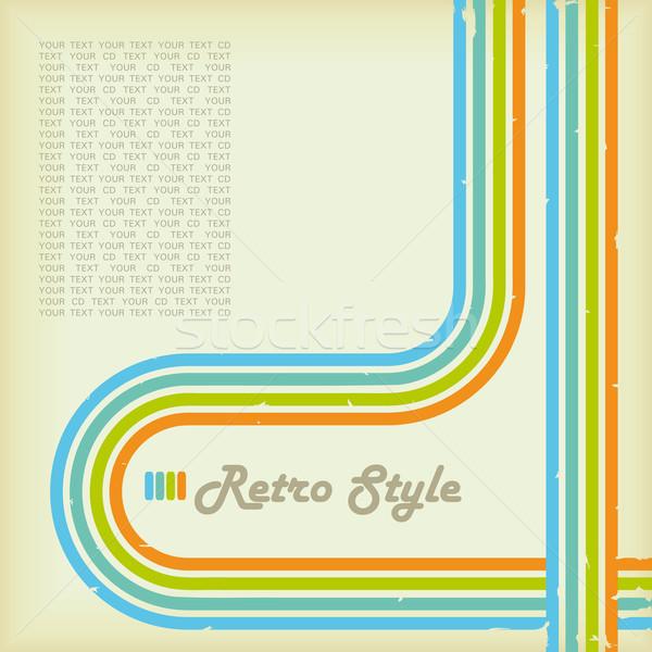 Retro-stijl dekken cd lp retro kijken Stockfoto © limbi007