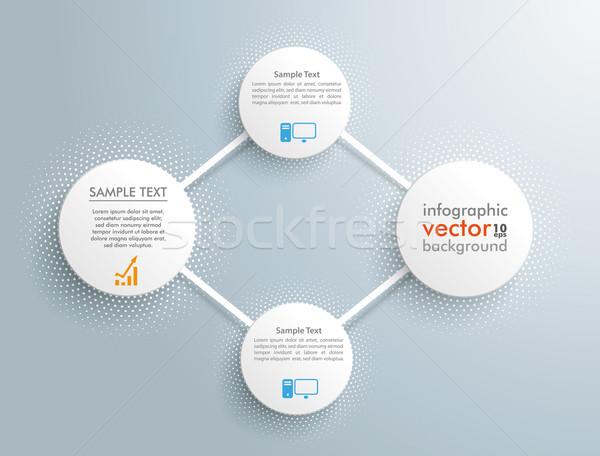 Infographic 4 Network Circles Halftone Stock photo © limbi007