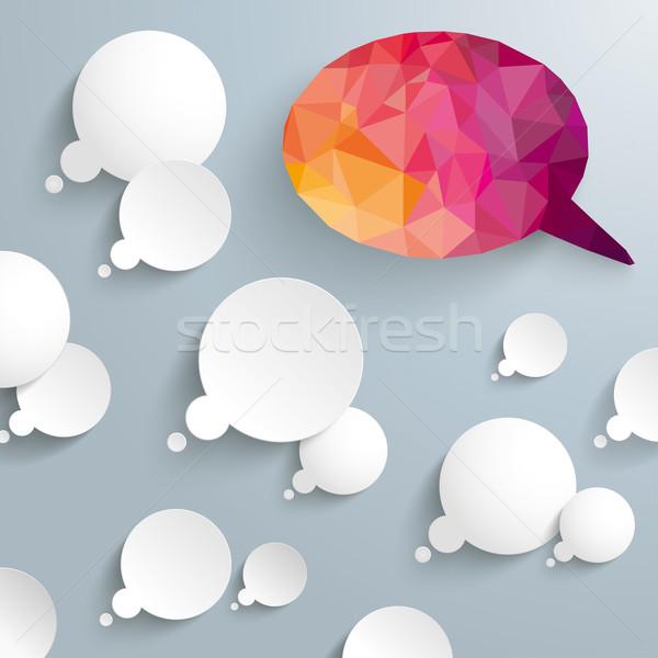 Thought Bubbles Low Poly Speech Bubbles Stock photo © limbi007