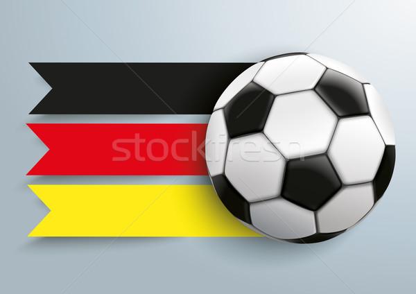 Foto stock: Futebol · Alemanha · bandeira · eps · 10 · vetor