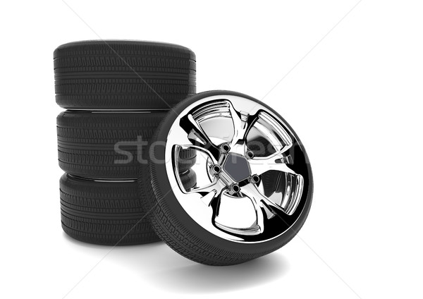 Car Tires with Rims Stock photo © limbi007