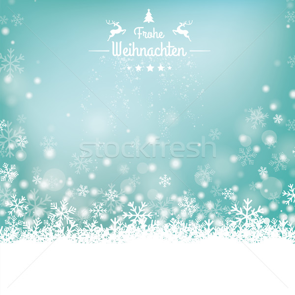 Frohe Weihnachten Stars Snow Wooden Background Stock photo © limbi007