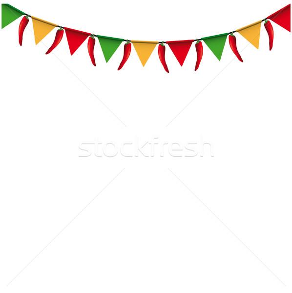 Carnival Confetti Ribbons Festoon Stock photo © limbi007