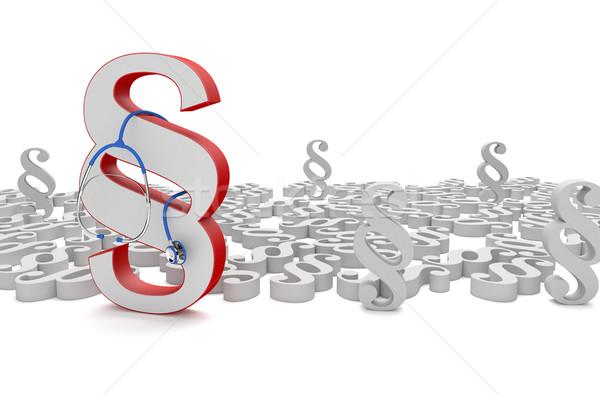 Rot Absatz Stethoskop weiß 3D-Darstellung Gesundheit Stock foto © limbi007