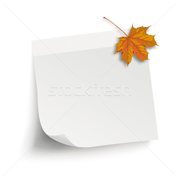 White Paper Stick Autumn Maple Foliage Stock photo © limbi007