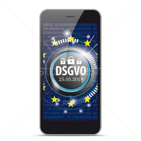 Black Smartphone DSGVO Stock photo © limbi007