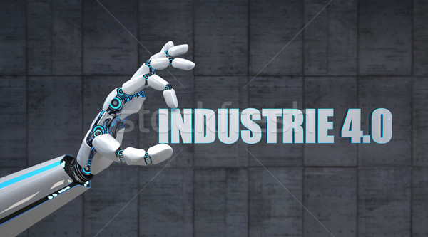 Robot Hand Industrie 4.0 Stock photo © limbi007